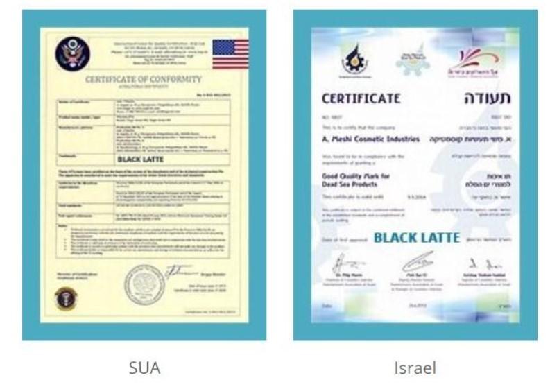 Black Latte certificate