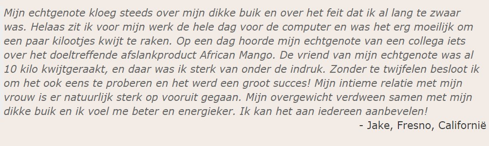 ervaringen African Mango